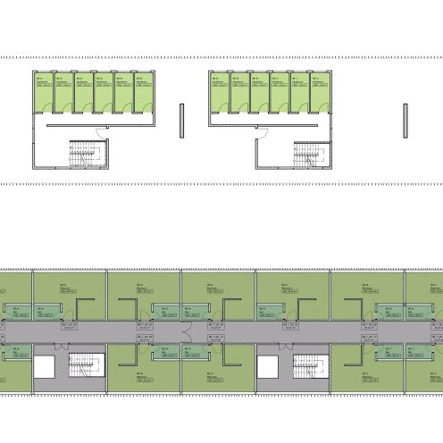 Eingangsbereich und 1-Zimmerappartments