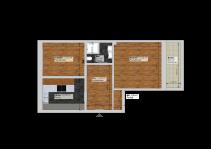 Grundrissplanung mit m² Angaben